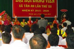 Đội nghi thức của trường chào mừng Đại Hội Đảng bộ xã Tân An nhiệm kỳ 2015 – 2020